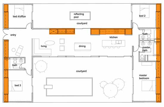 4-bedroom plan