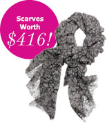 Scarves Worth $416!