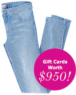 Gift Cards Worth $950!
